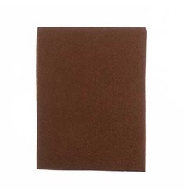 """Felt Beading Foundation Brown 1.5mm thick 8.5x11"""""""