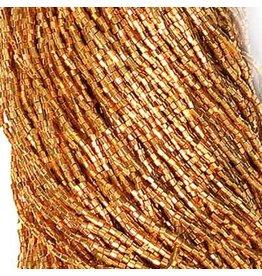 Czech 42001 10/0 2 Cut Seed Hank 20g  Gold Metallic Terra