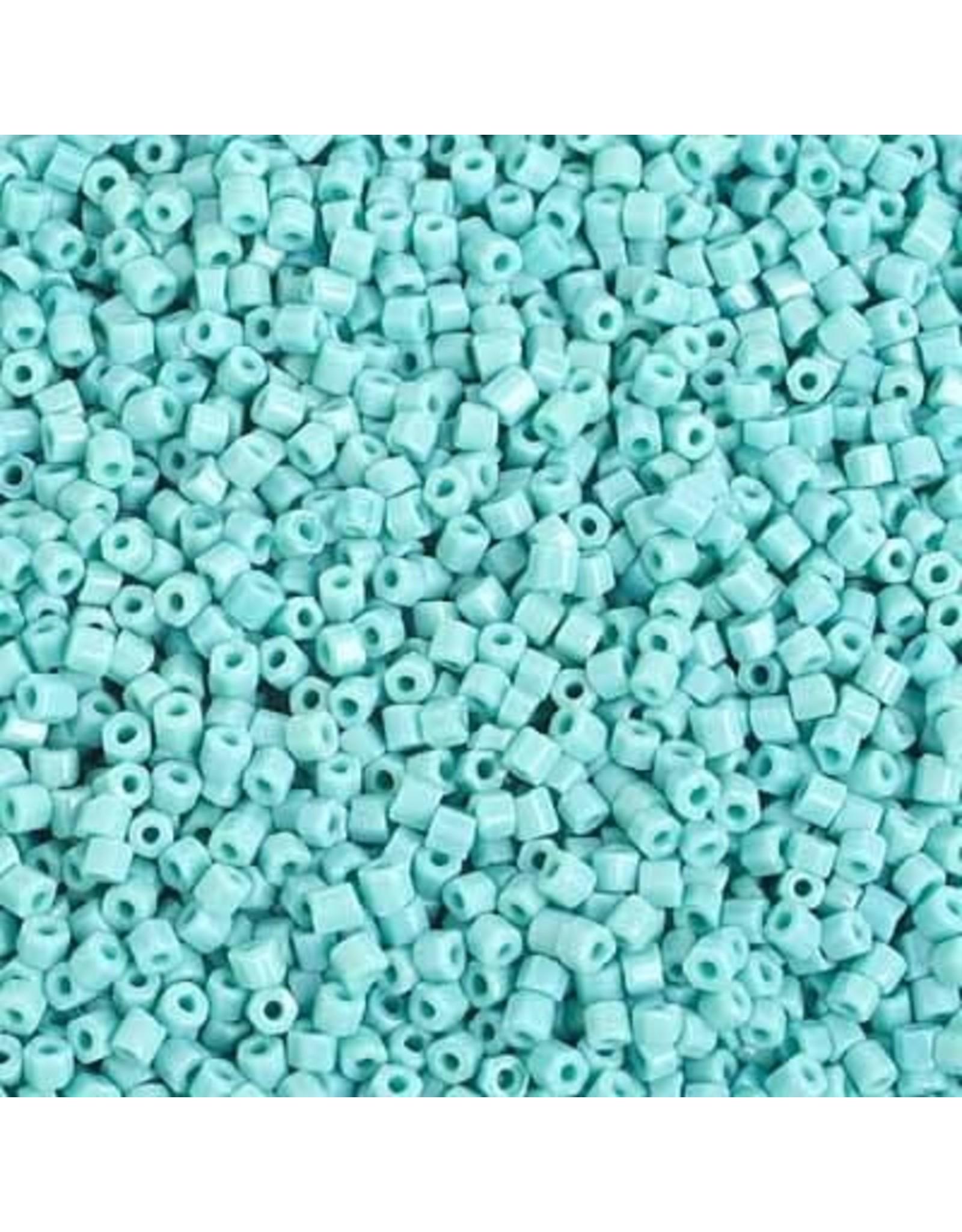 Czech 29354 10/0 2 Cut Seed Hank 20g  Opaque Turquoise Blue