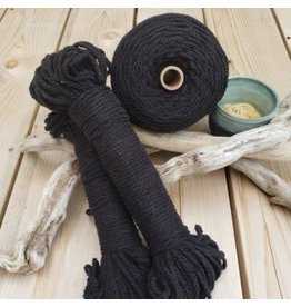 Recycled Cotton Cord  4mm Black 150ft