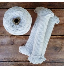 Recycled Cotton Cord  4mm White 150ft