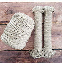 Recycled Cotton Cord  4mm Latte Cream 150ft