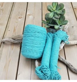 Recycled Cotton Cord  4mm Caribbean Blue 150ft