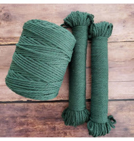 Recycled Cotton Cord  4mm Dark Green 150ft