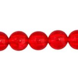 Round  8mm Transparent Red x50