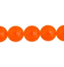 Round  8mm Transparent Orange x50
