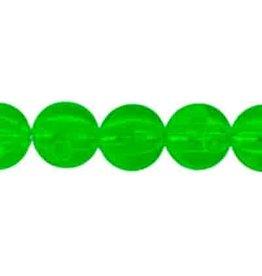 Round  8mm Transparent Green  x50