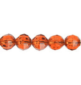 Faceted Round  6mm Transparent Topaz Brown  x500