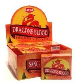 Hem *Dragons Blood Incense Cones  x10