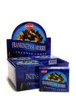 Hem *Frankincense-Myrrh Incense Cones  x10