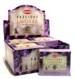 Hem *Precious Lavender Incense Cones  x10