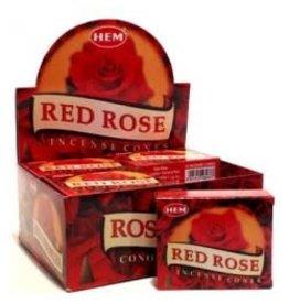 Hem *Red Rose Incense Cones  x10