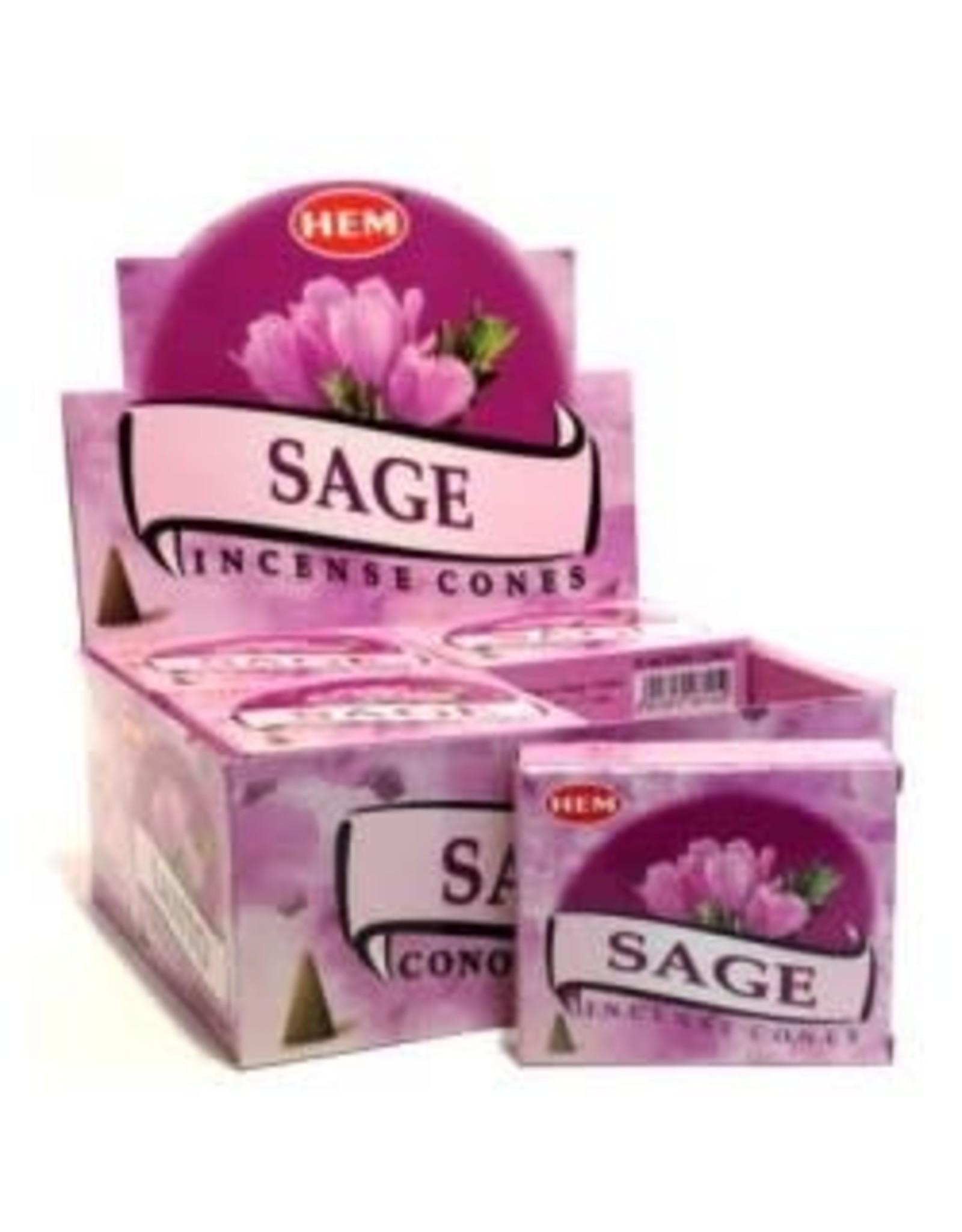 Hem *Sage Incense Cones  x10