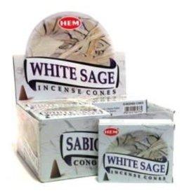Hem *White Sage Incense Cones  x10
