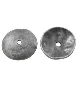 Bead Cap Smooth 13mm Antique Silver x20 NF