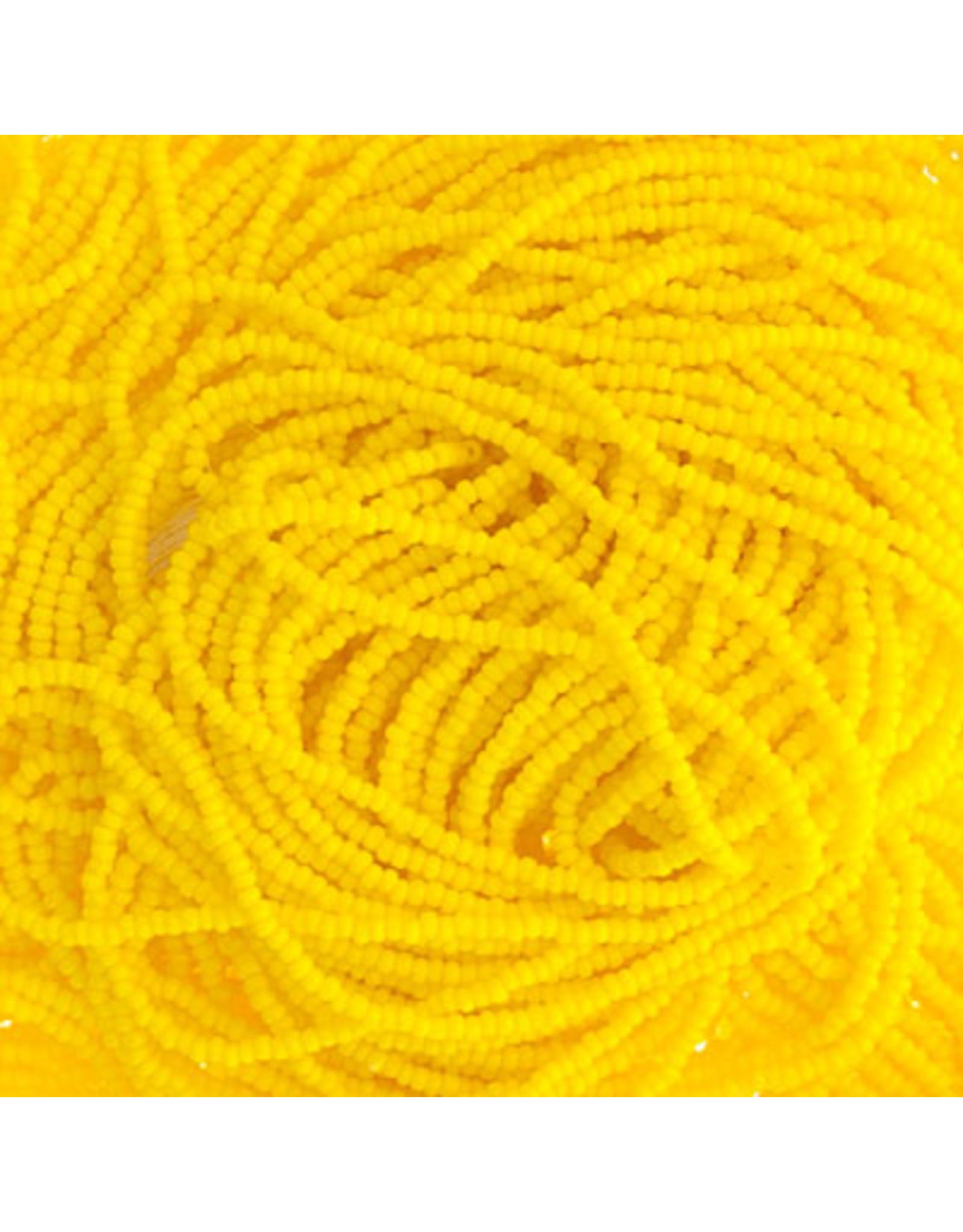 Czech 29301 13/0 Charlotte Cut Seed Hank 12g Opaque Lemon Yellow