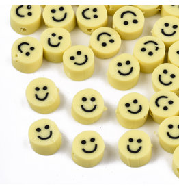 5mm Polymer Clay Happy Face x25