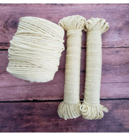 Recycled Cotton Cord  4mm Lemon Yellow 150ft