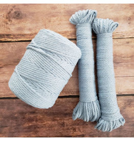 Recycled Cotton Cord  4mm Light Blue 150ft
