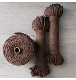 Recycled Cotton Cord  5mm Espresso Brown 150ft