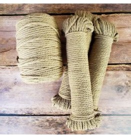 Recycled Cotton Cord  5mm Mocha  Brown 150ft