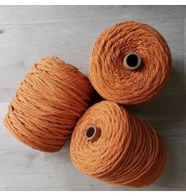 Recycled Cotton Cord  5mm Pumpkin Orange 150ft