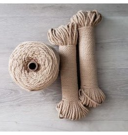 Recycled Cotton Cord  5mm Sand Brown 150ft