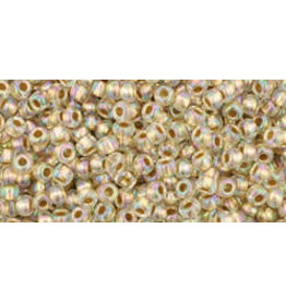 Toho 994 11  Round 6g  Clear AB Gold Lined
