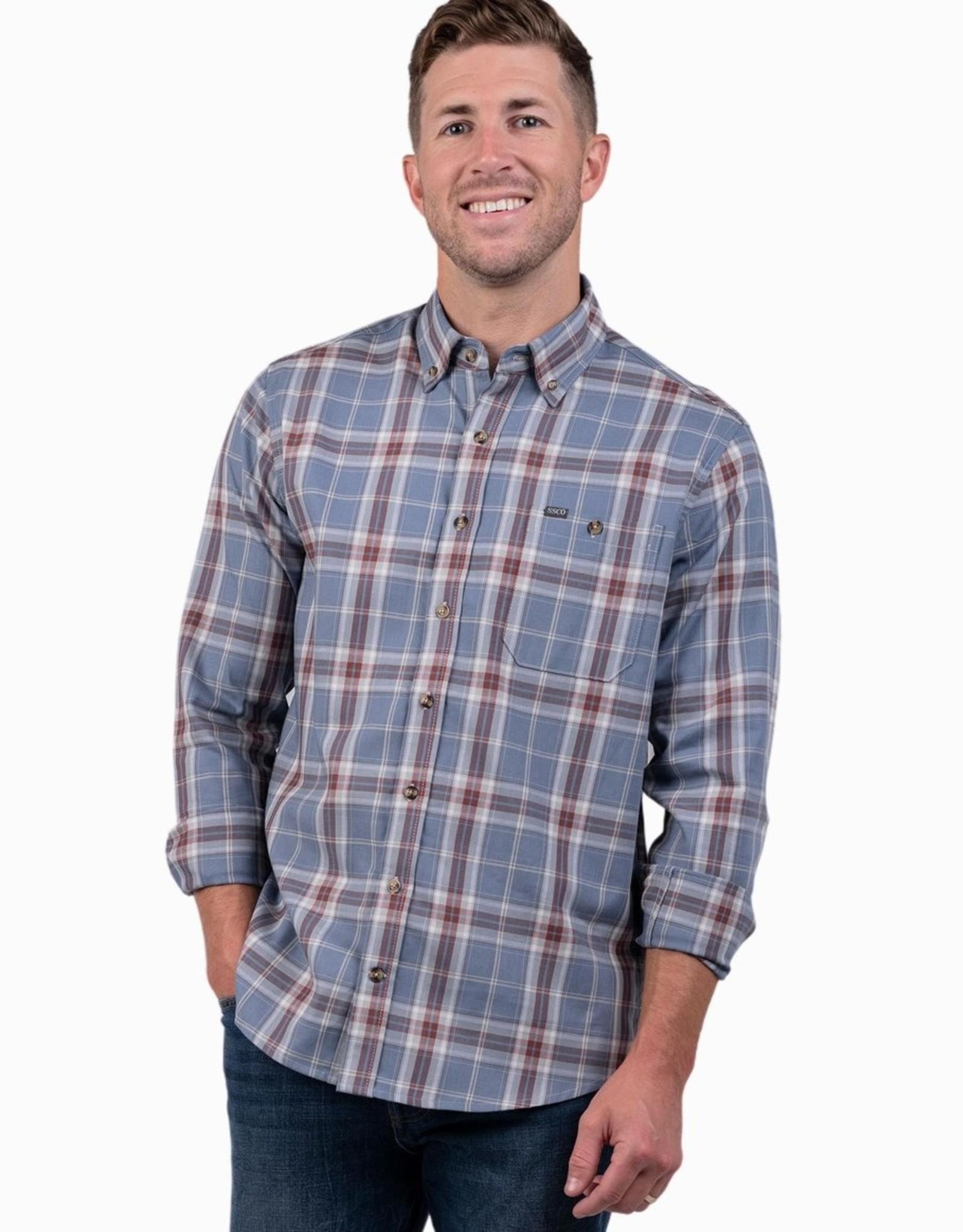 Southern Shirt Walker Indigo Plaid LS