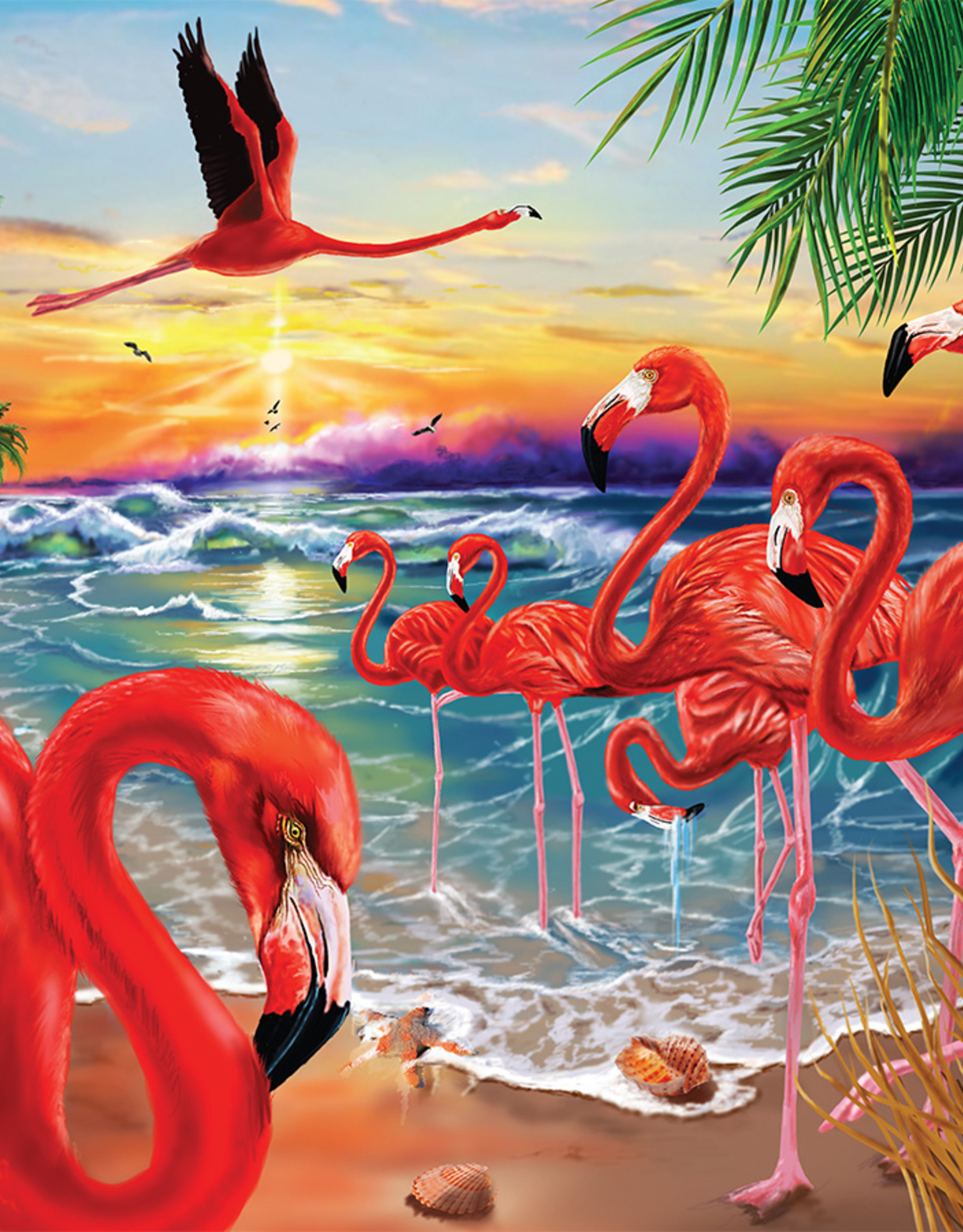 Heritage Puzzles Flamingo Bay Puzzle