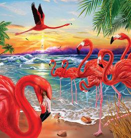 Heritage Puzzles Flamingo Bay 550 Piece Puzzle