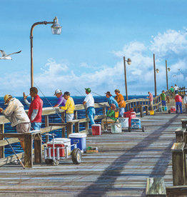 Heritage Puzzles Fishing Pier 500 Piece Puzzle
