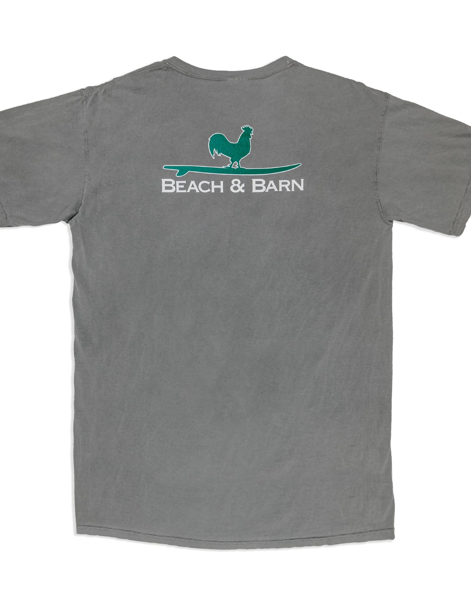 Beach &  Barn Surfing Rooster Pocket Tee