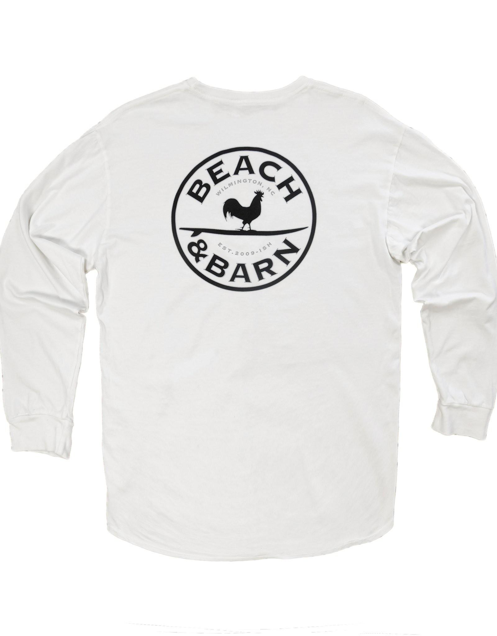 Beach &  Barn Emblem Pocket Tee Long Sleeve