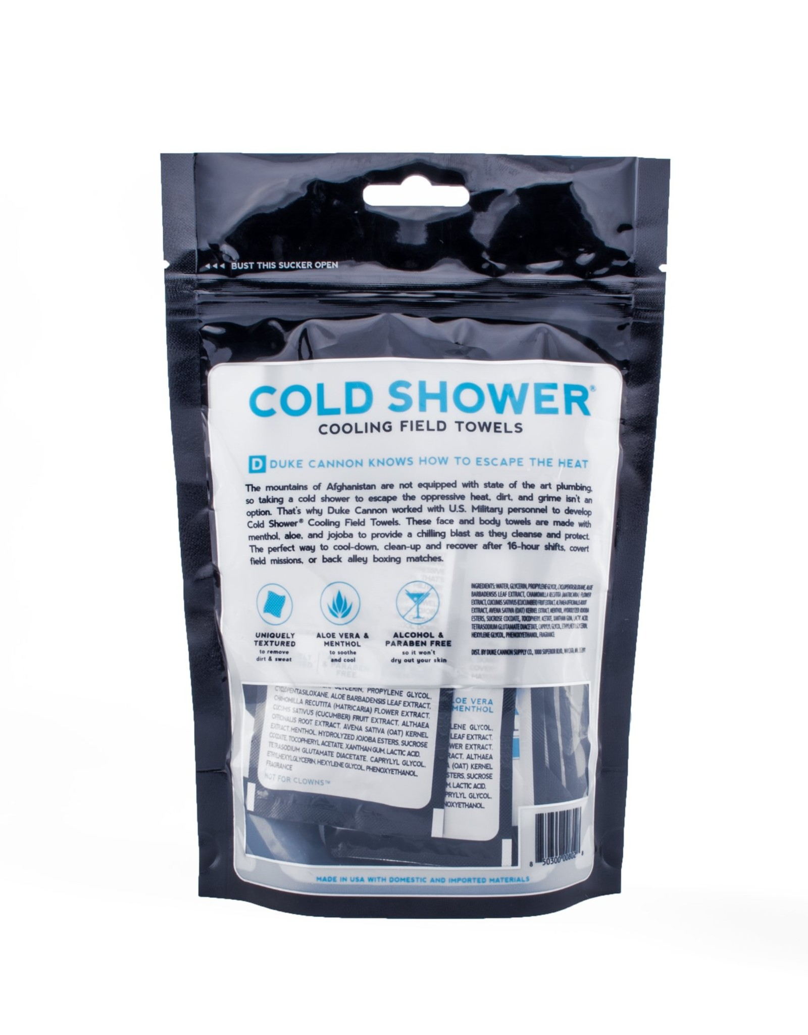 Duke Cannon 15 Ct Cold Shower Towel Pouch