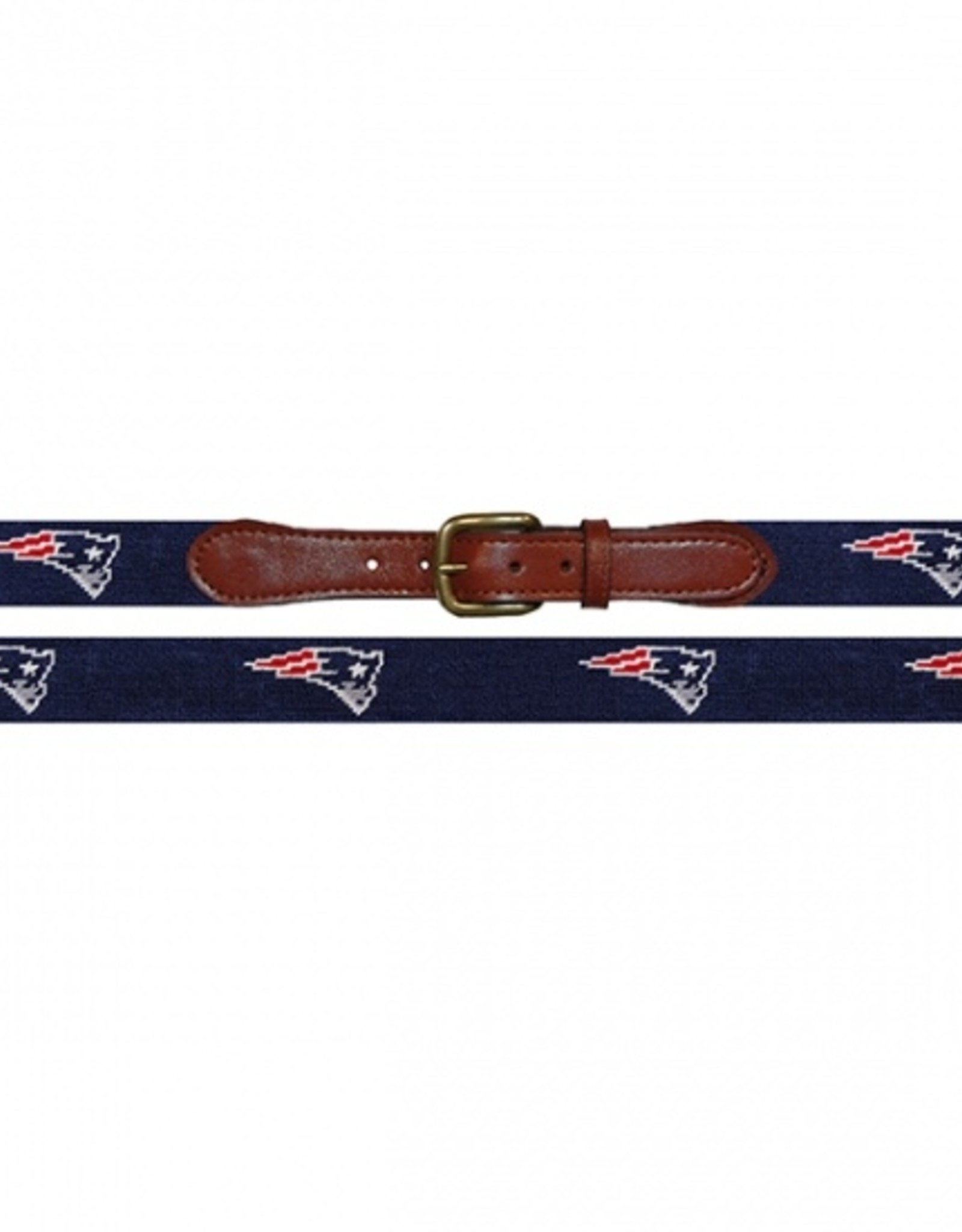 "Smathers and Branson  ""New England Patriots"" Needlepoint Belt"
