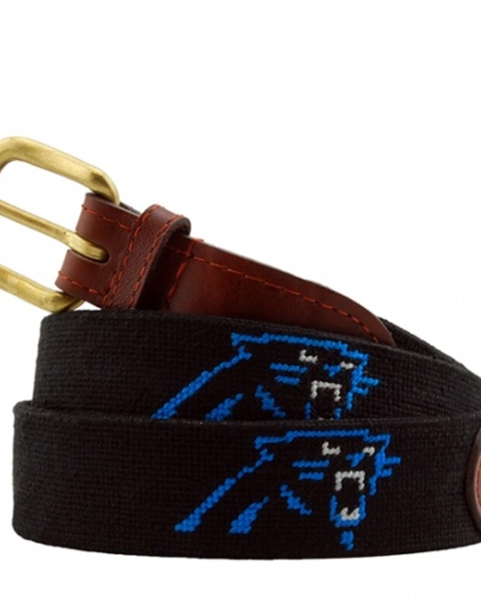 """Smathers and Branson  """"Carolina Panthers"""" Needlepoint Belt"""