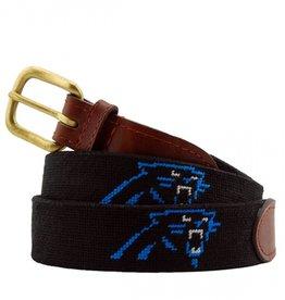 Smathers and Branson Carolina Panthers Needlepoint Belt