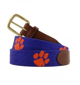 Smathers and Branson Clemson Needlepoint Belt