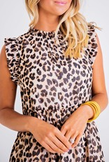 Karlie Leopard Chiffon Dress