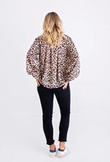 Karlie  Leopard Chiffon Long Sleeve Top