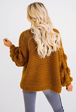 Karlie Large Yarn Novelty Cardigan Sweater