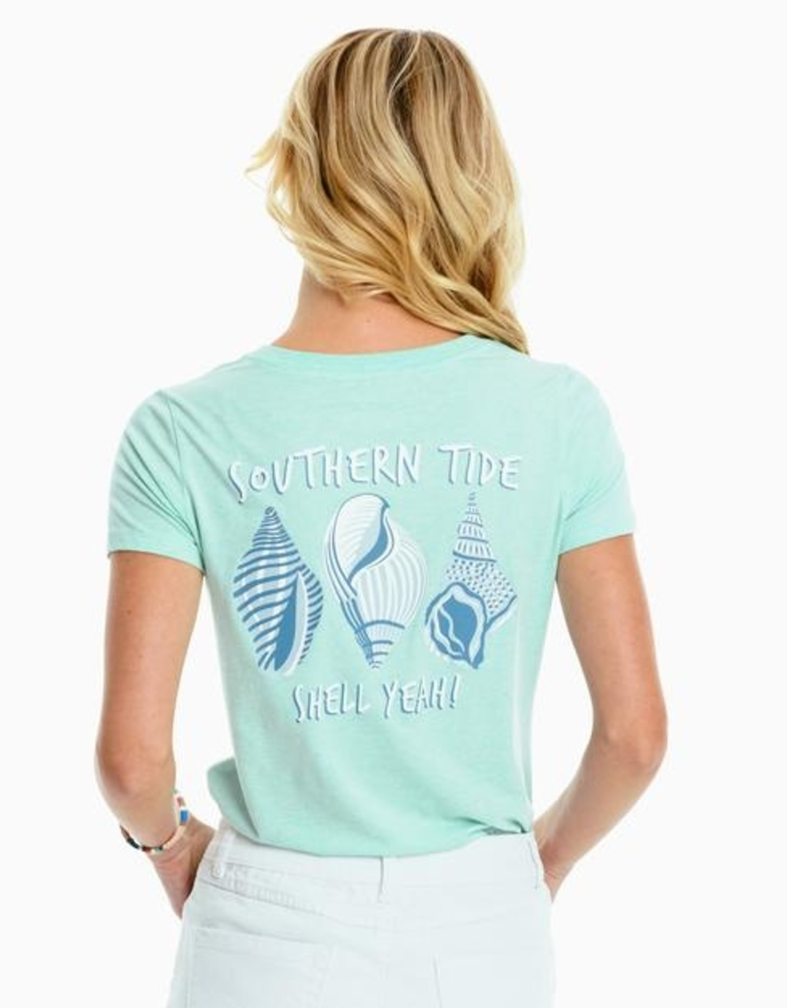 Southern Tide Shell Yeah Fitted Tee