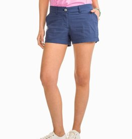 Southern Tide Leah Short in Navy Seersucker