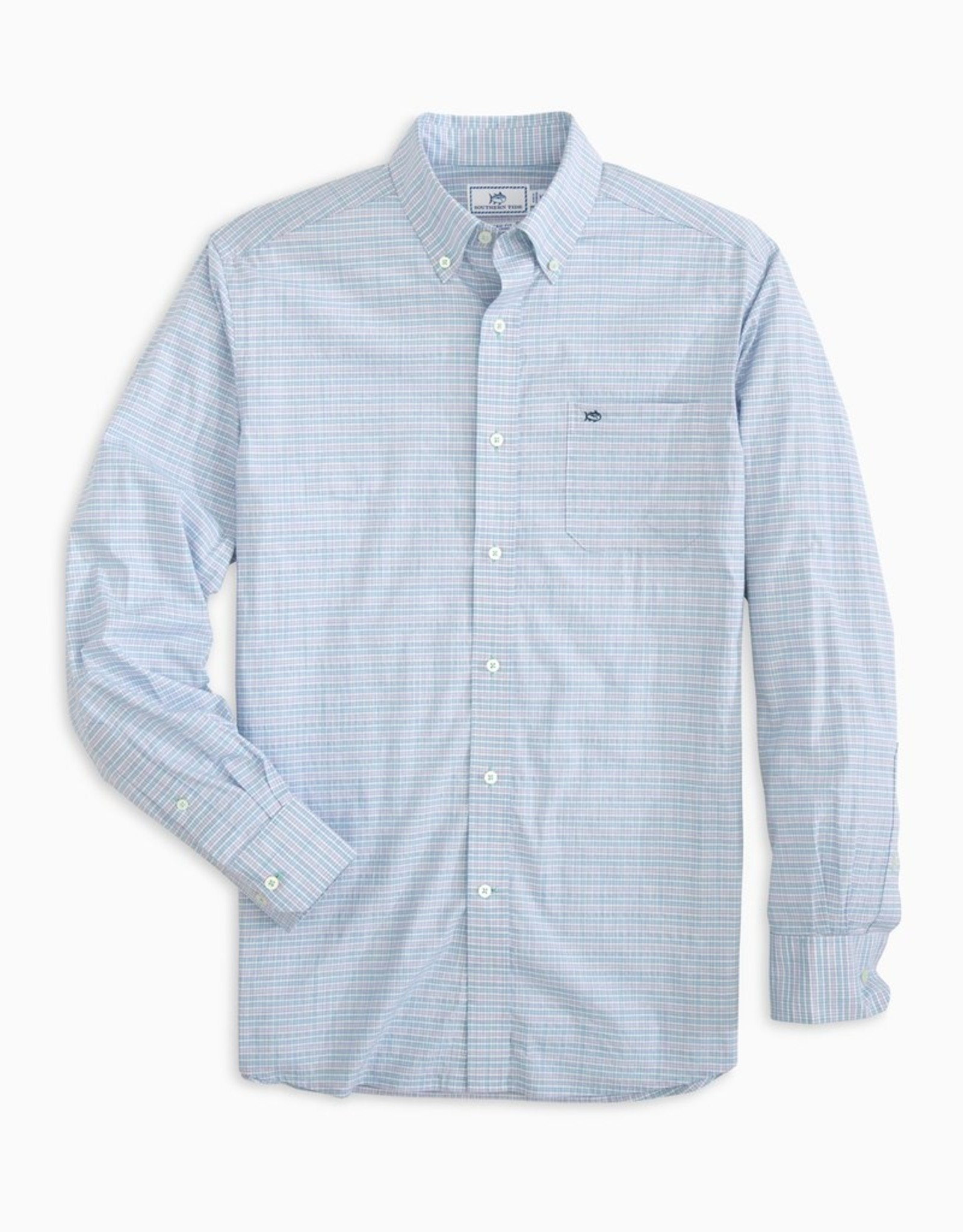 Southern Tide Guarded Gingham Sportshirt