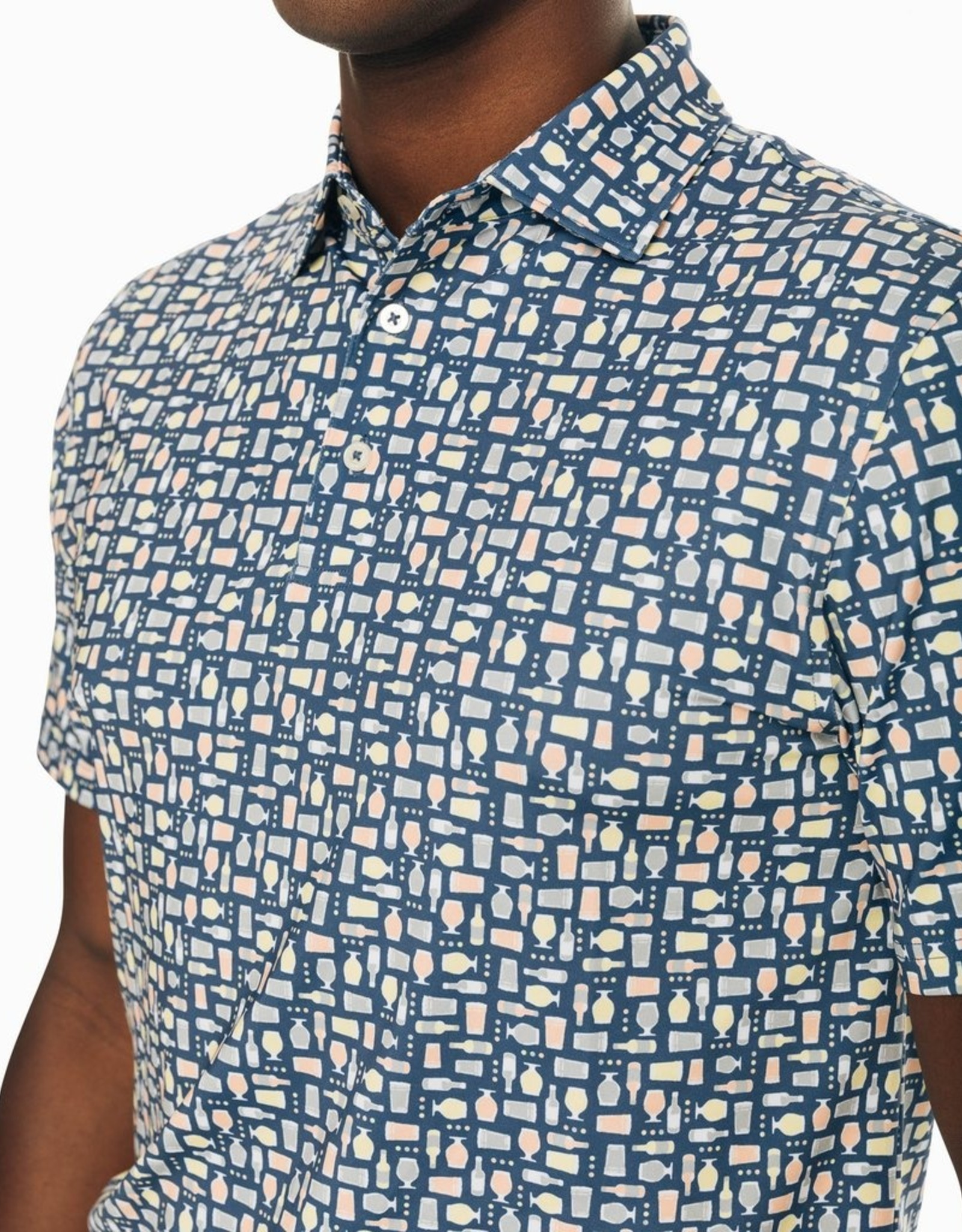 Southern Tide Driver Brewers Print Performance Polo