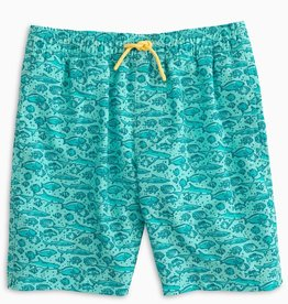 Southern Tide Youth School Of Fish Swim Trunk