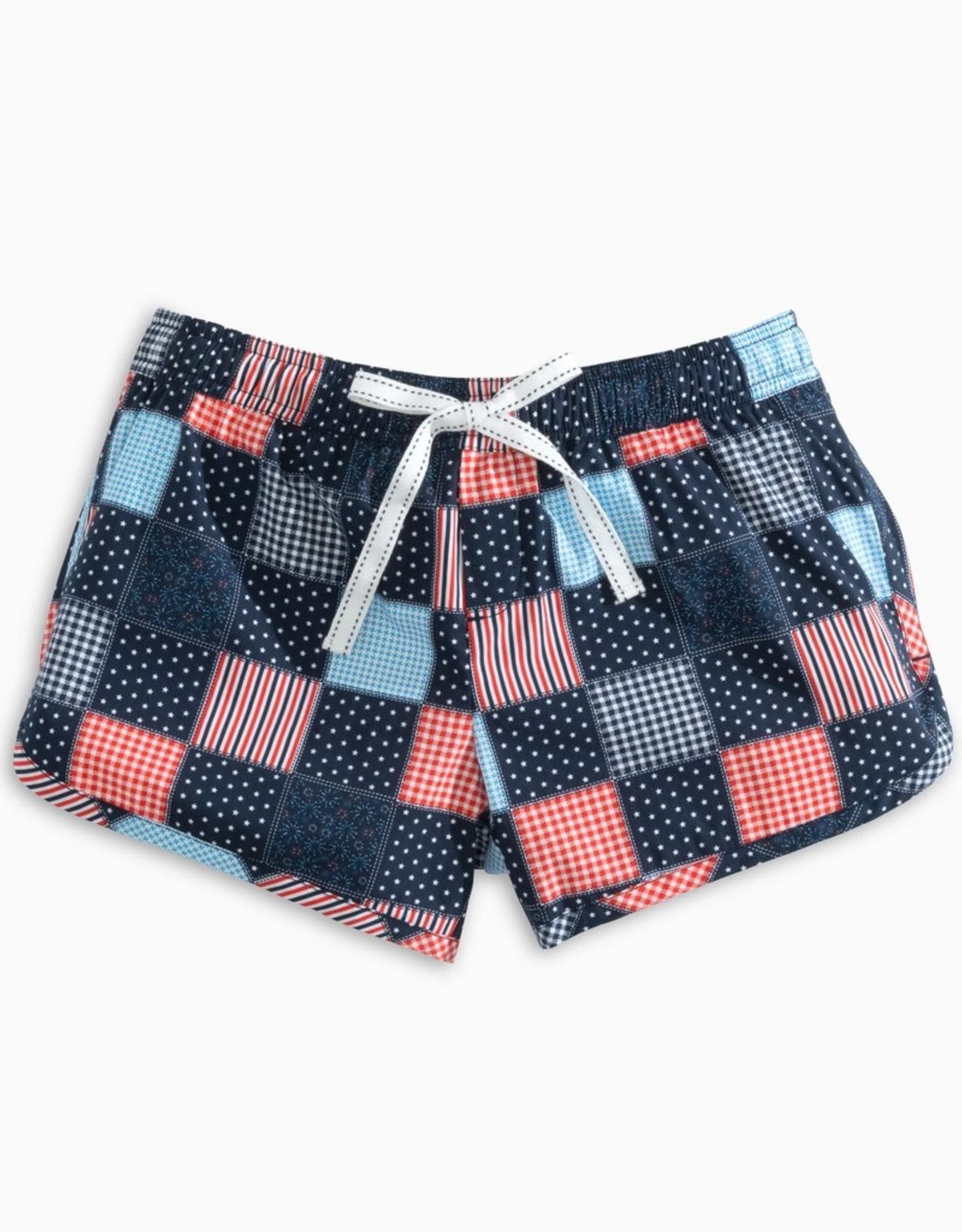 Southern Tide USA Patchwork Lounge Shorts