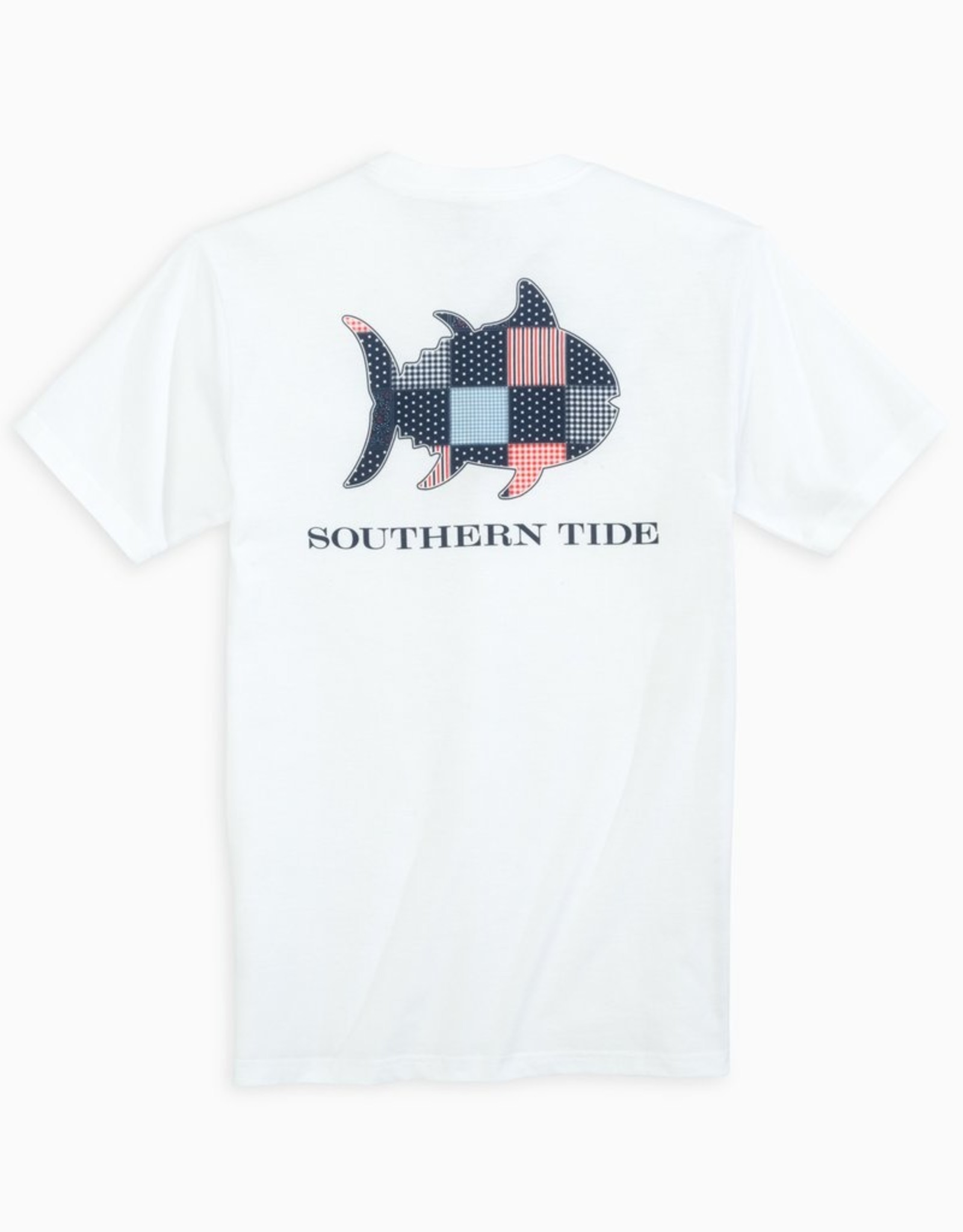 Southern Tide USA Patchwork Tee