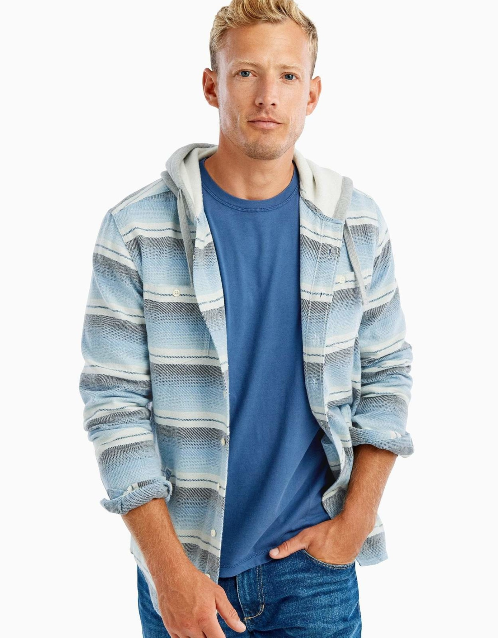 johnnie O Carver Hoodie Shirt Jacket
